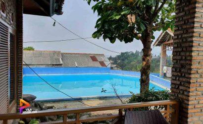 villa 2 kamar di puncak kolam renang pribadi