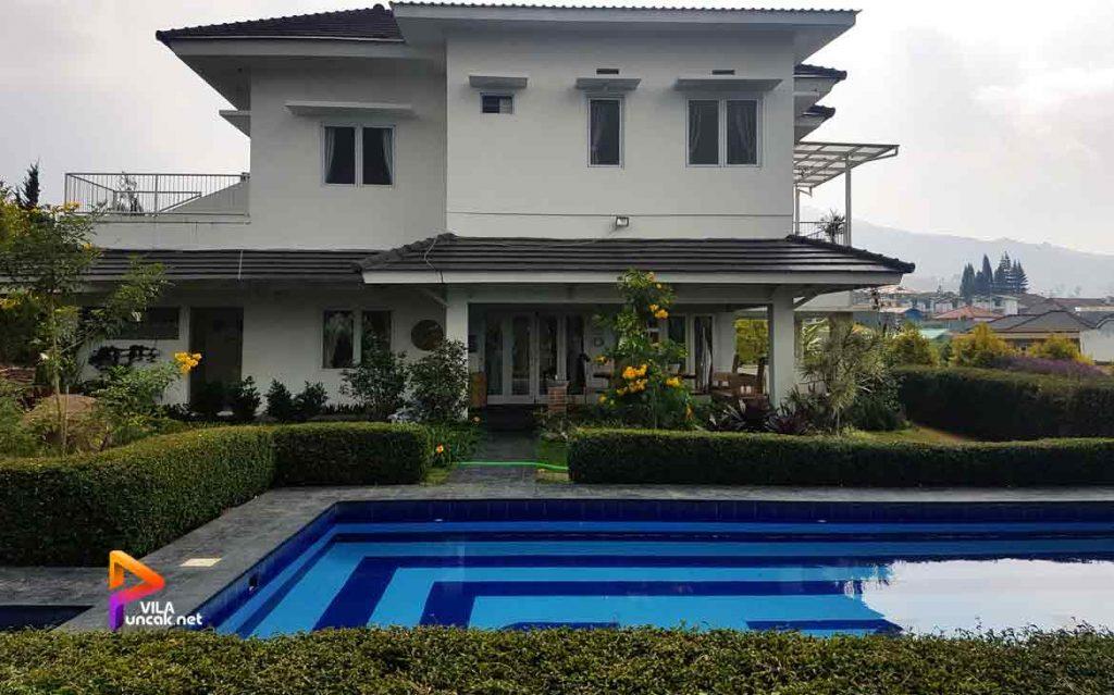 villa di cibodas puncak 5 kamar murah kolam renang pribadi 6