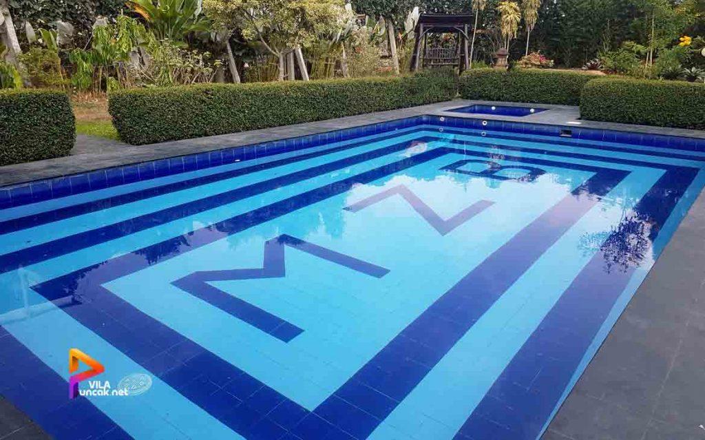 villa di cibodas puncak 5 kamar murah kolam renang pribadi 8