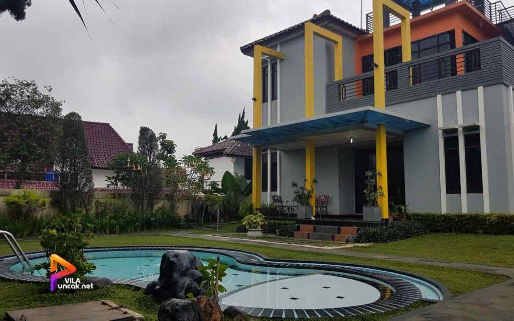 villa 1 rumah di puncak